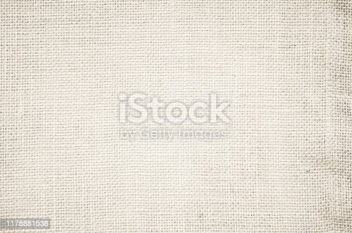 1044099896 istock photo Cream pastel texture background. Haircloth or blanket wale linen canvas wallpaper. Rustic canvas fabric texture in natural color. Natural vintage linen burlap fabric texture background. 1178881538