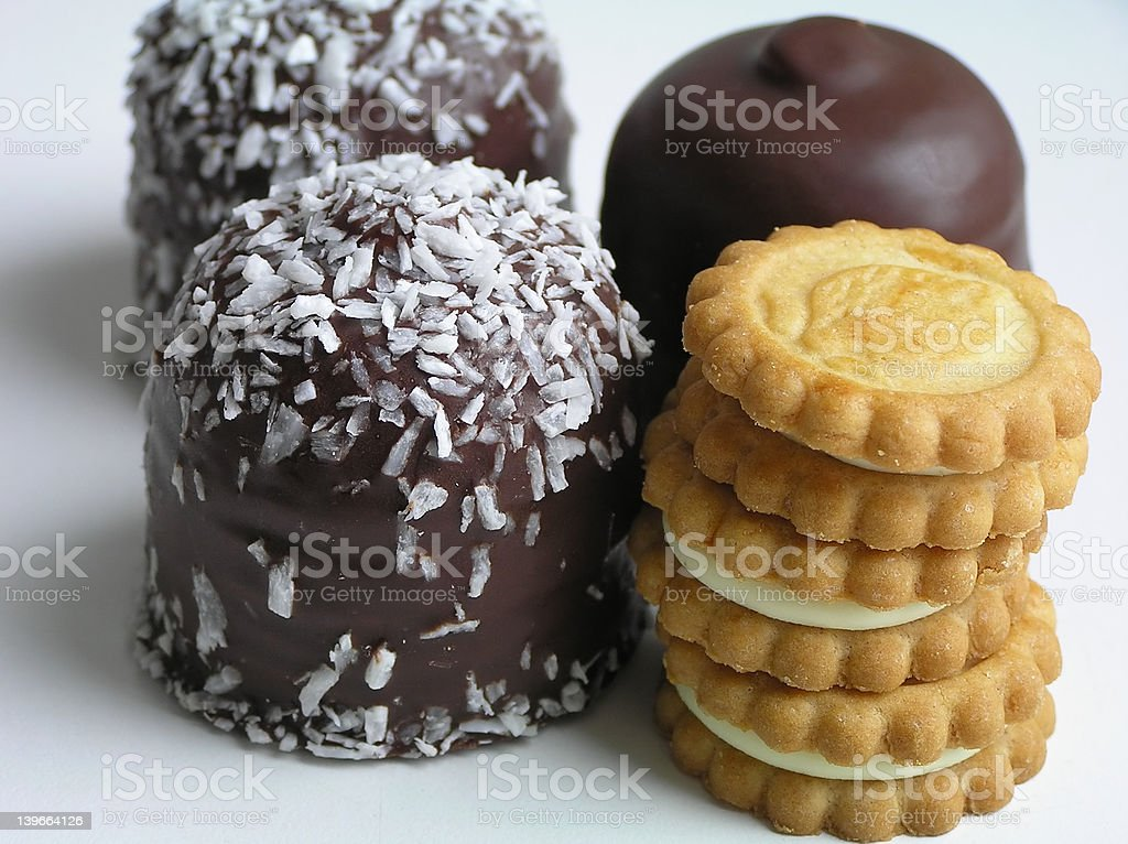 Cream puff and biscuit royalty-free stock photo