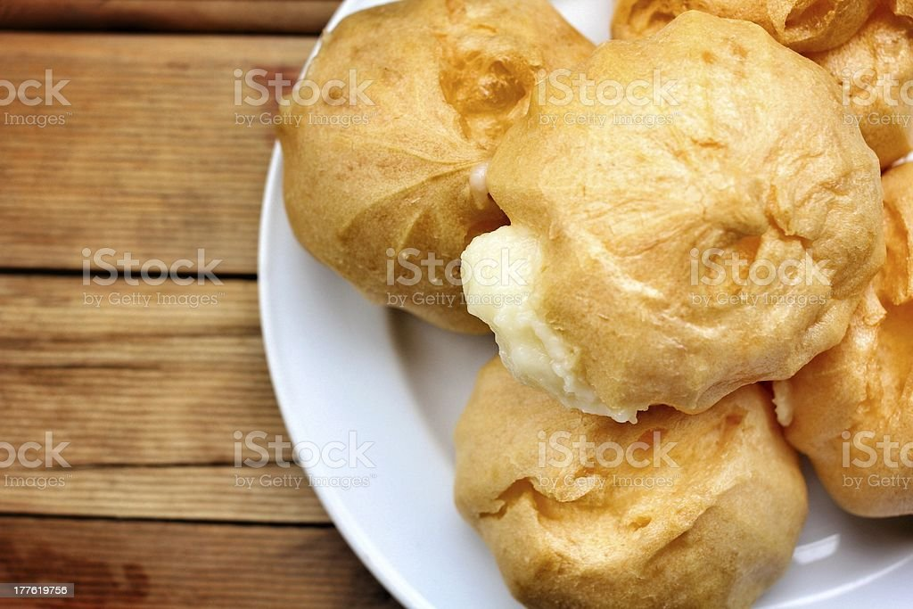 Cream puffs royalty-free stock photo