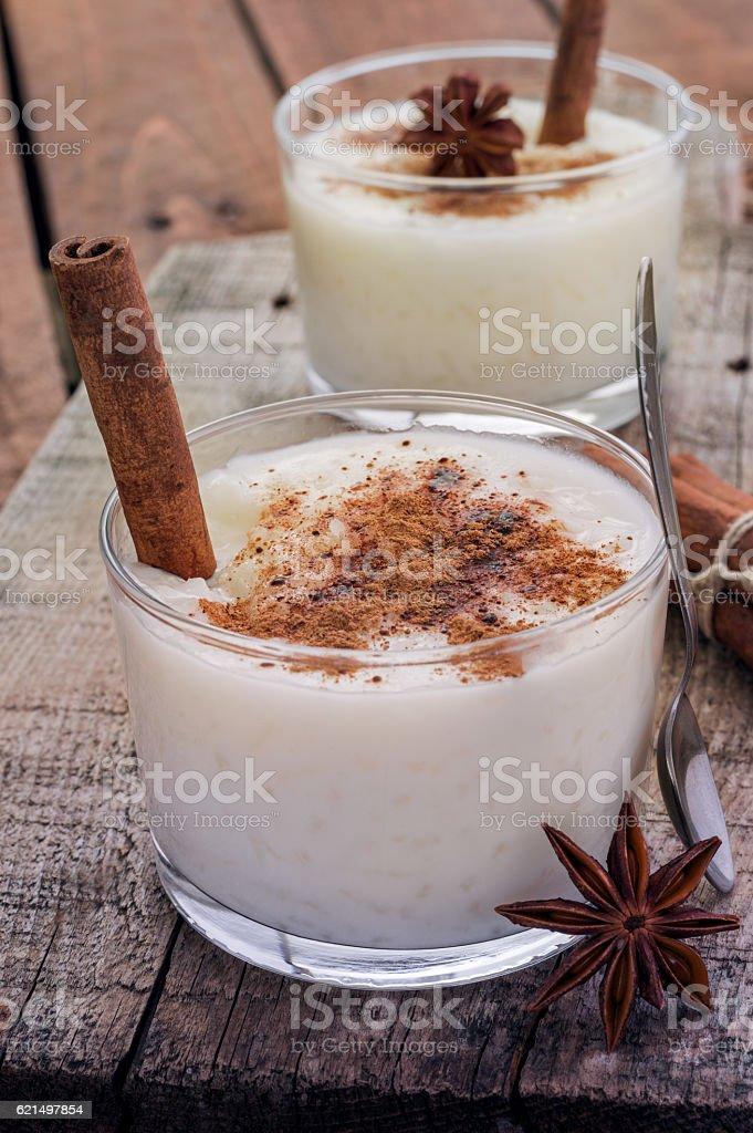 Cream Rice Pudding foto stock royalty-free