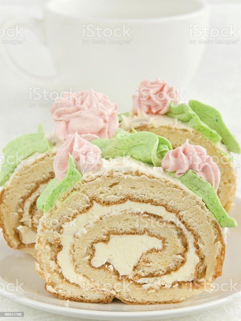 Cream roll royalty-free stock photo