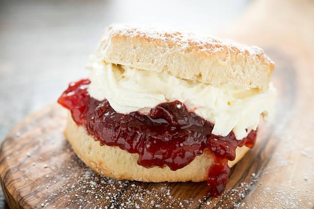 cream scone - scone bildbanksfoton och bilder