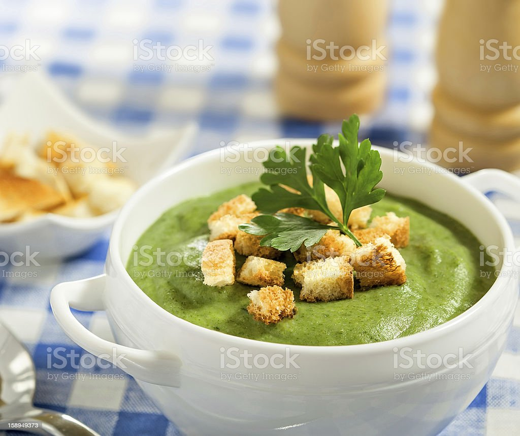 Cream soup royalty-free stock photo