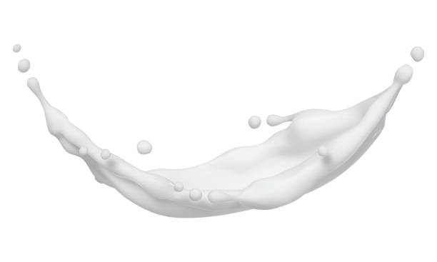 Cream Splash Element stock photo