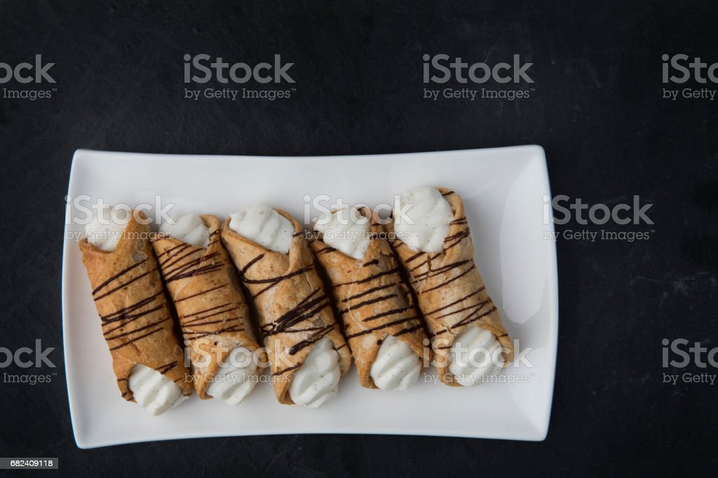Cream Stuffed Pastries royalty-free stock photo