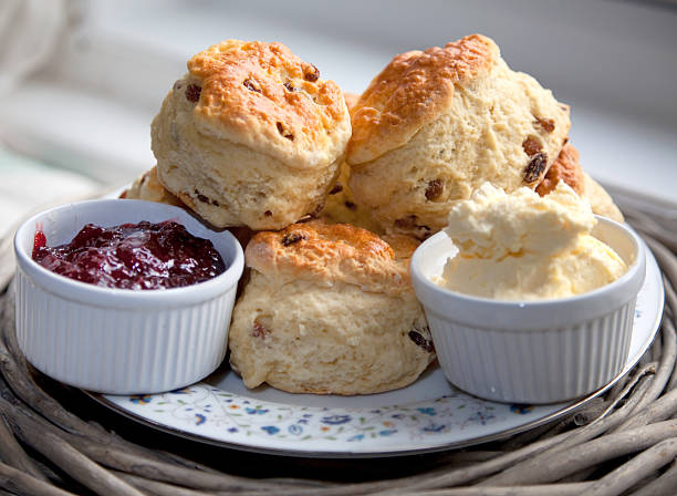 Cream Tea stock photo