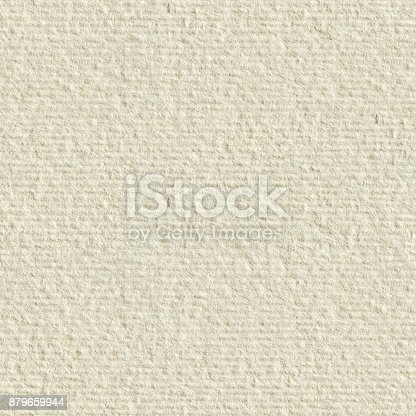 istock Cream textured paper. Seamless square texture. Tile ready 879659944