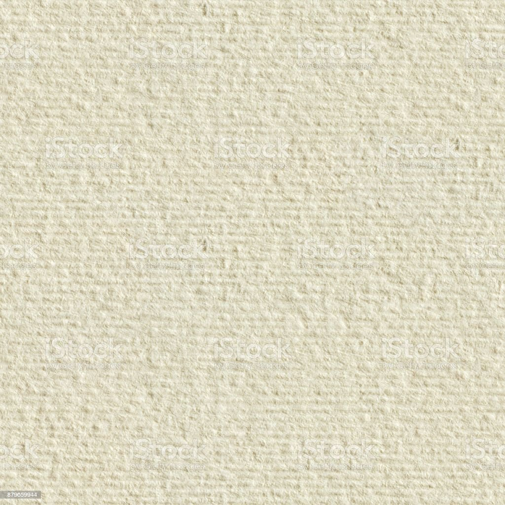 Cream textured paper. Seamless square texture. Tile ready stock photo