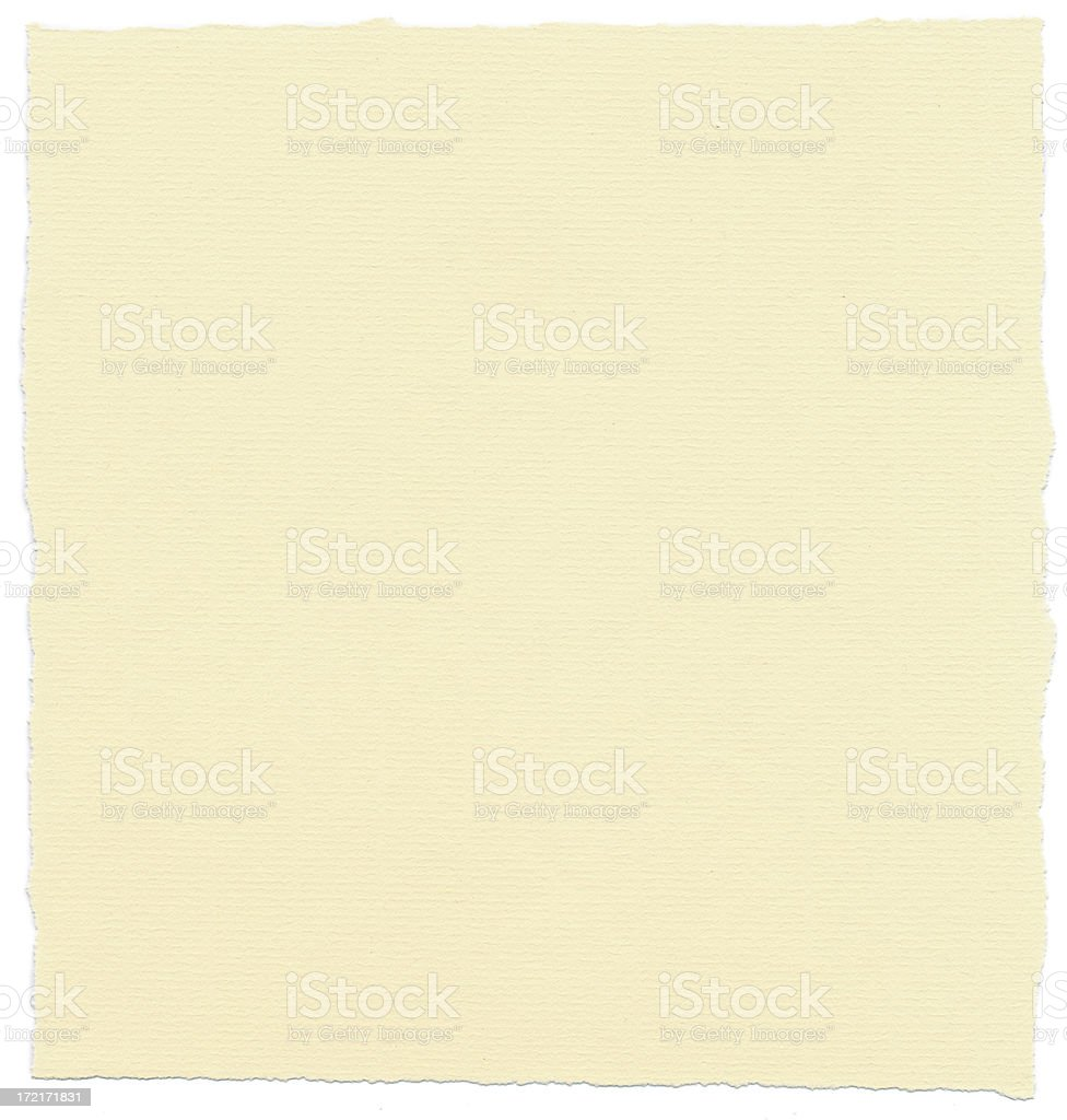 Cream Textured Paper with Torn Edges royalty-free stock photo