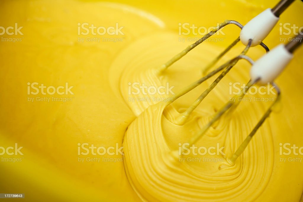 Creaming butter in bowl royalty-free stock photo