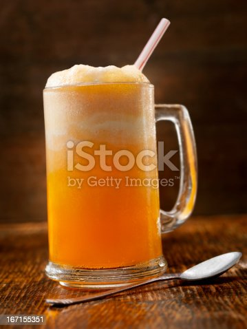 An Orange Pop and Vanilla Ice cream Float  - Photographed on Hasselblad H3D2-39mb Camera