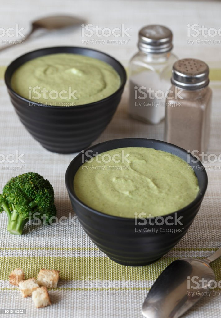 cream-soup of broccoli royalty-free stock photo