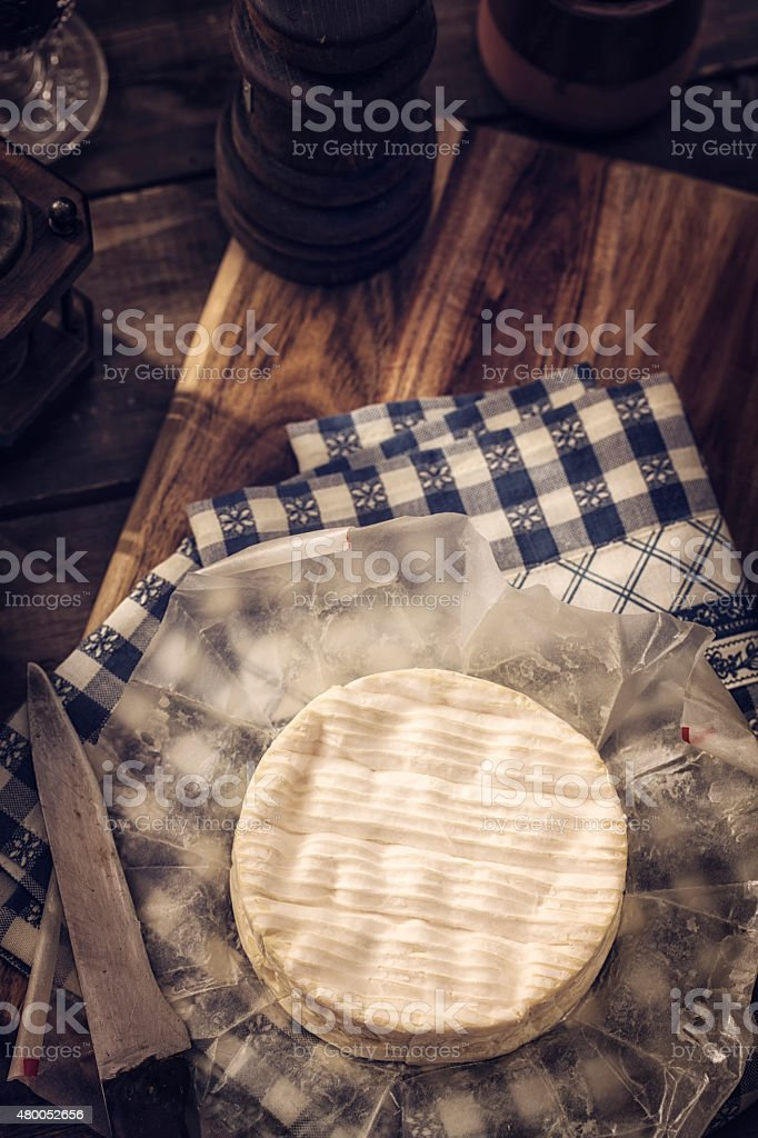 Creamy and Soft Camembert Cheese stock photo