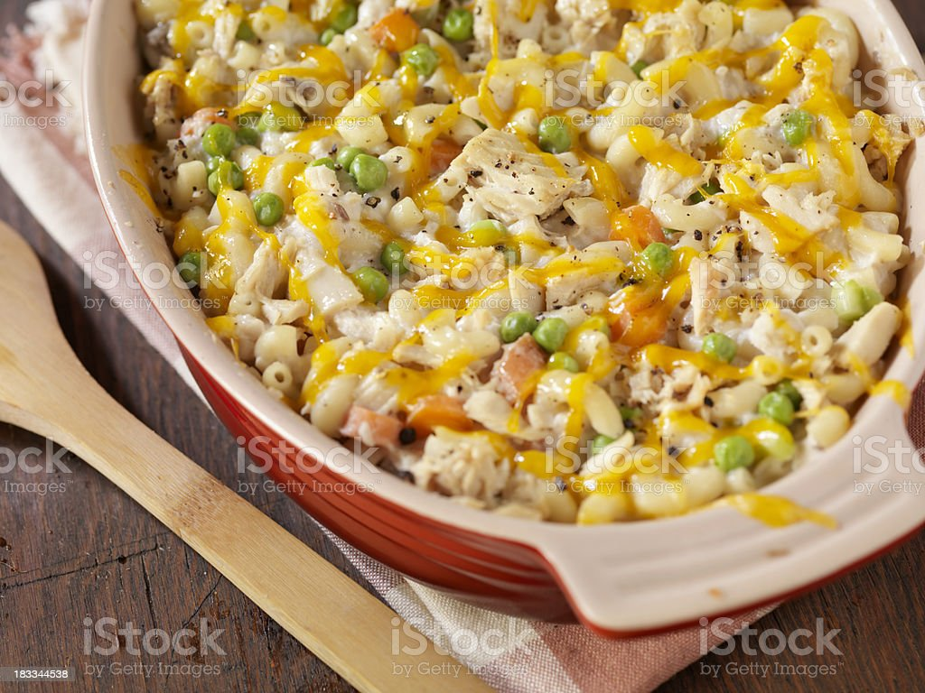 Creamy Baked Tuna and Macaroni Casserole royalty-free stock photo