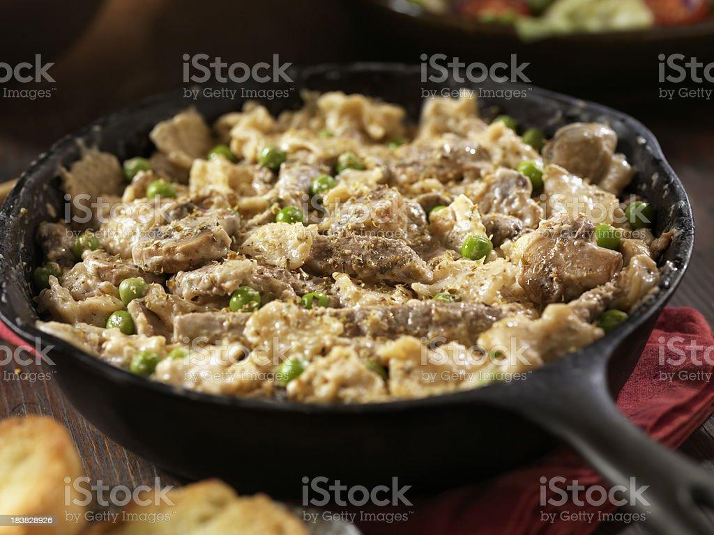 Creamy Beef Stroganoff stock photo