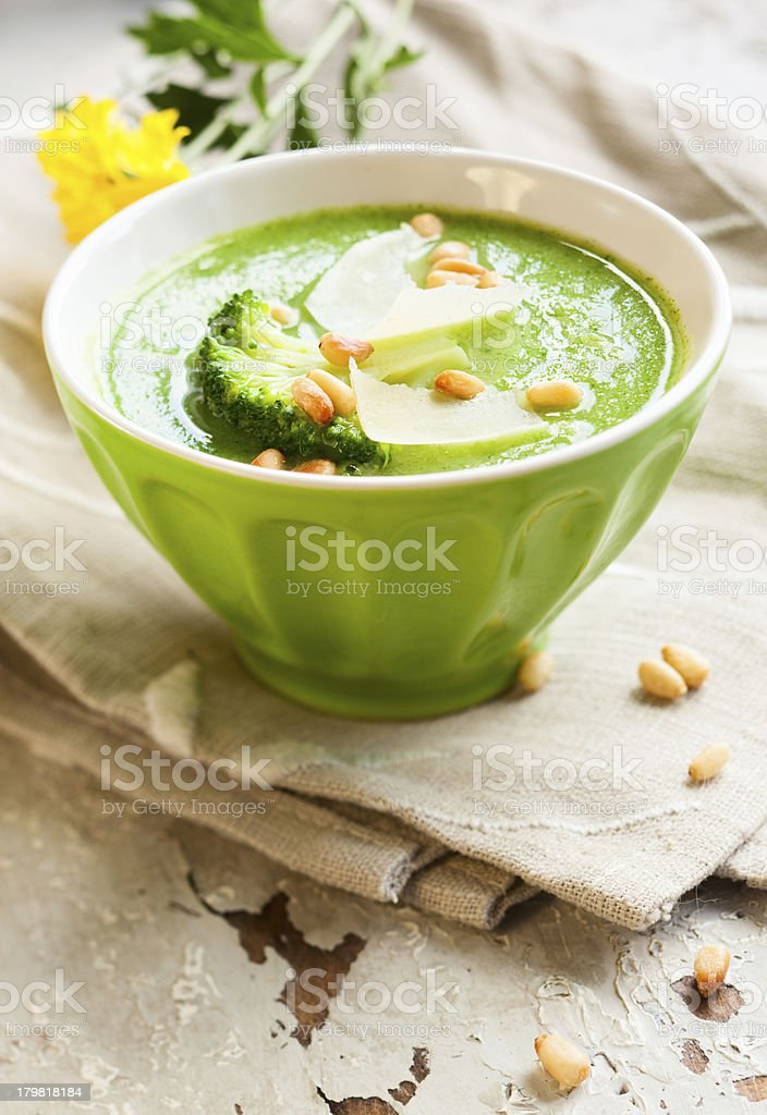 creamy broccoli soup royalty-free stock photo