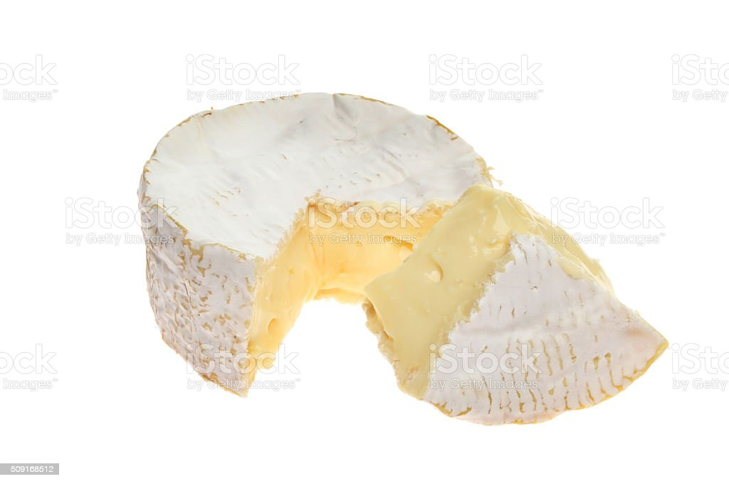 Creamy camembert stock photo