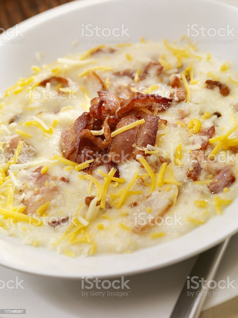 Creamy Cheese Grits royalty-free stock photo