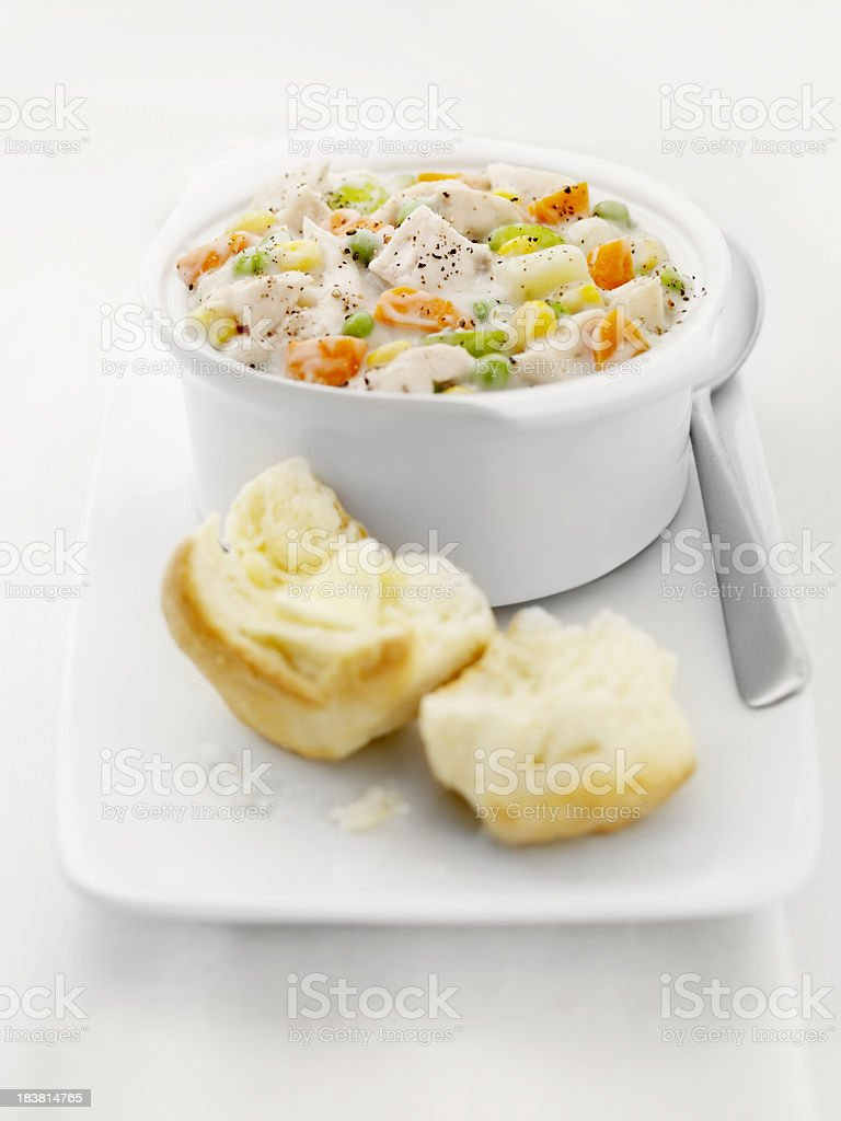 Creamy Chicken and Vegetable Stew stock photo