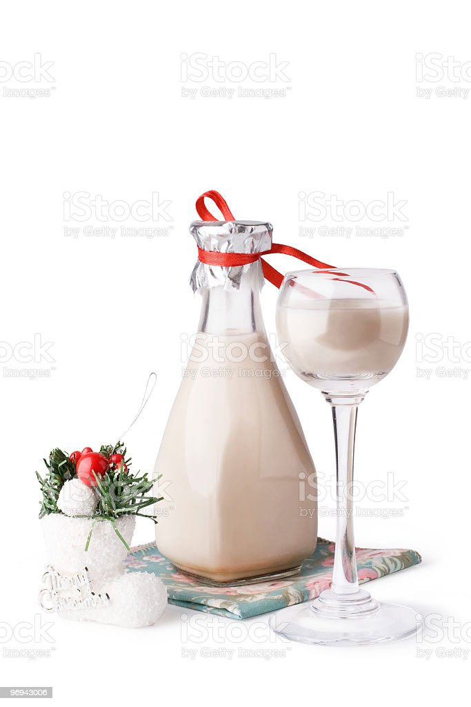 Creamy Christmas cocktail royalty-free stock photo