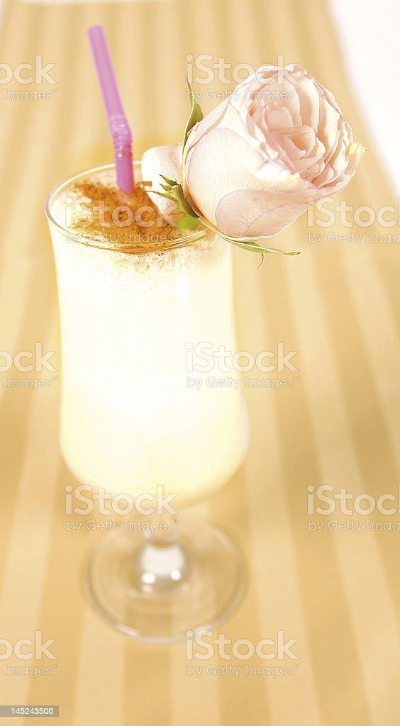 Creamy cocktail stock photo
