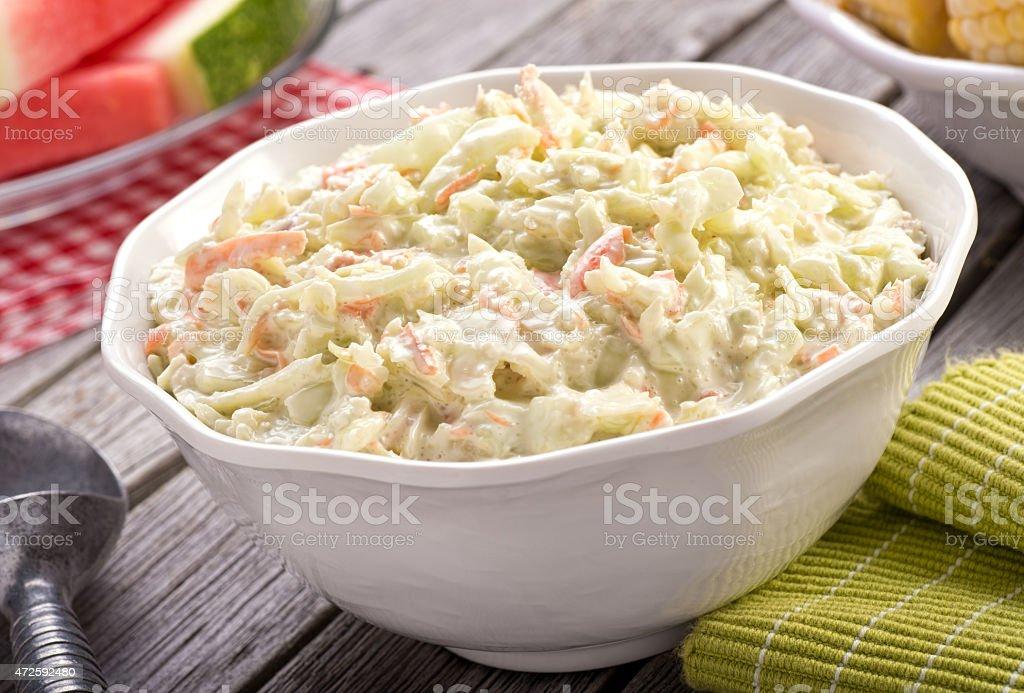 Creamy Coleslaw stock photo