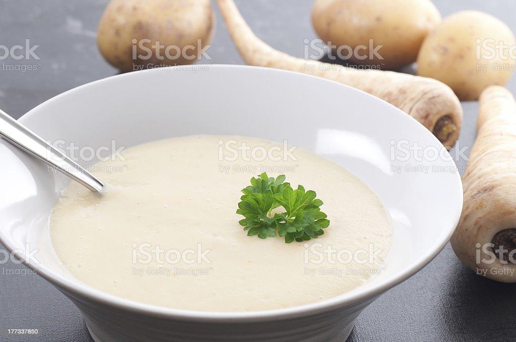 Creamy Parsnip Soup bildbanksfoto