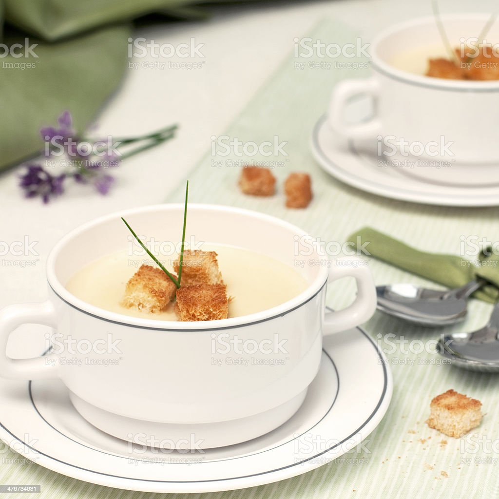 creamy pea soup royalty-free stock photo