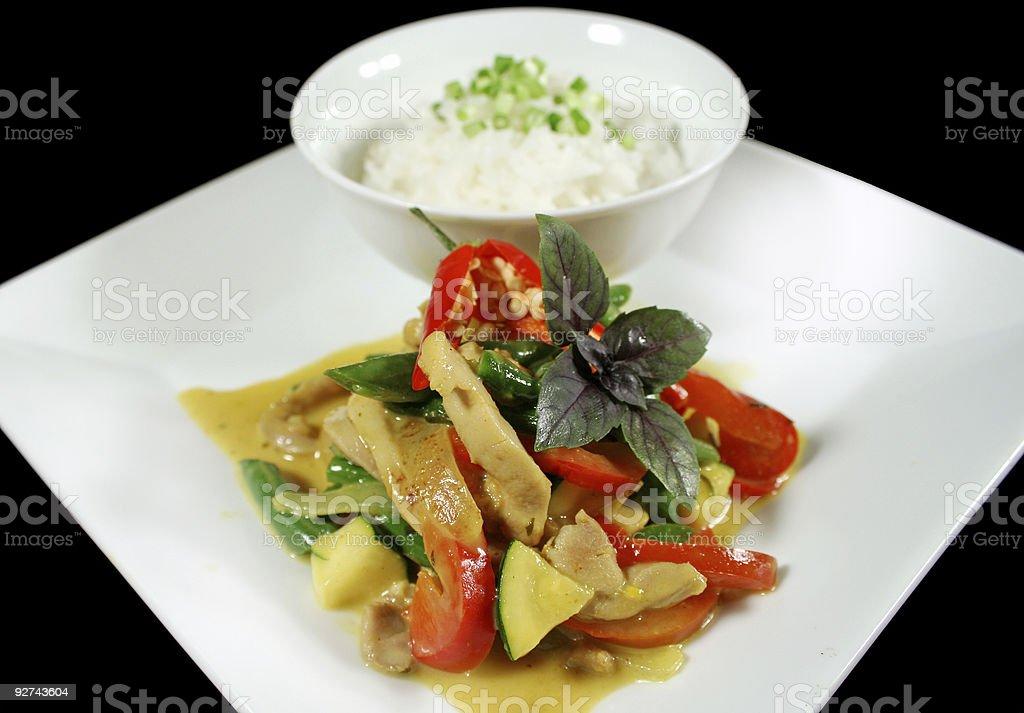 Cremige Hähnchen-Curry nach Thai-Art Lizenzfreies stock-foto