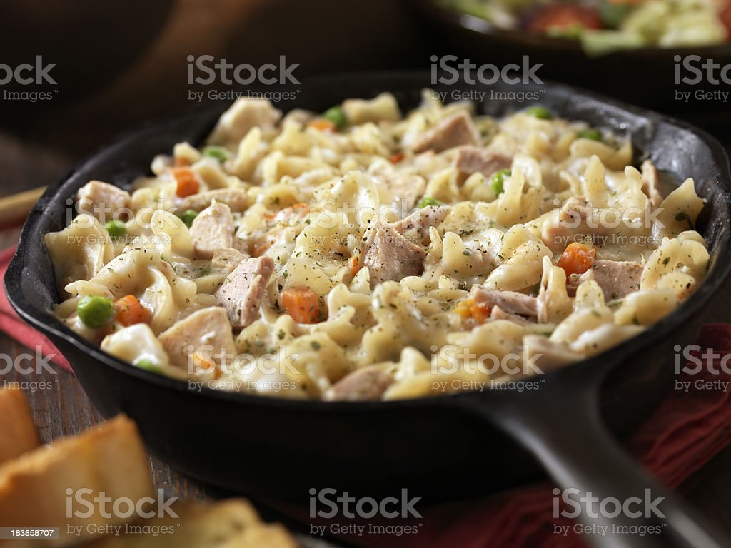 Creamy Tuna and Pasta Dinner stock photo