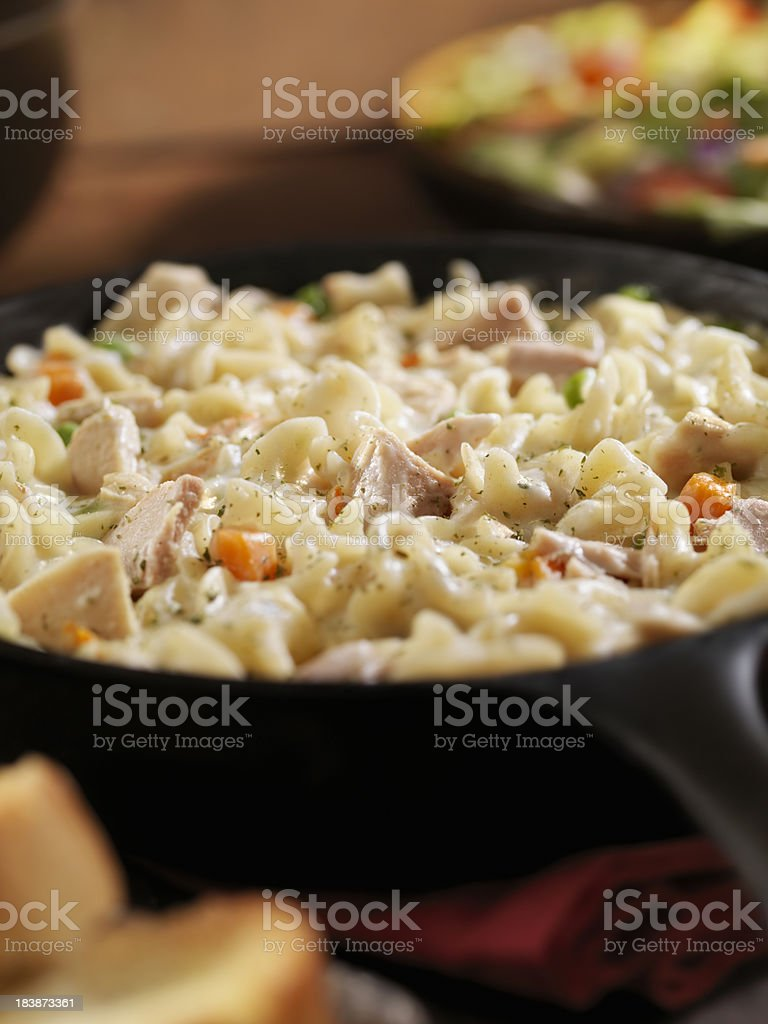 Creamy Tuna and Pasta Dinner royalty-free stock photo