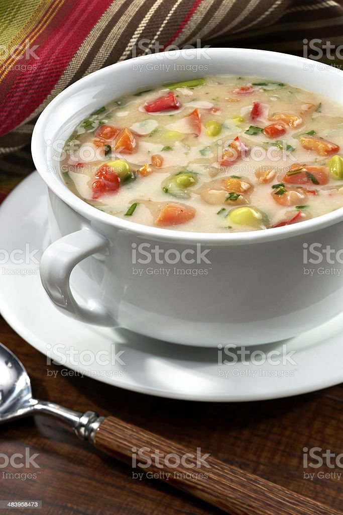 Creamy Vegetable Soup - stock image stock photo