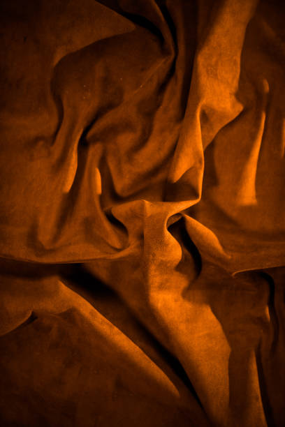 creased leather surface texture stock photo