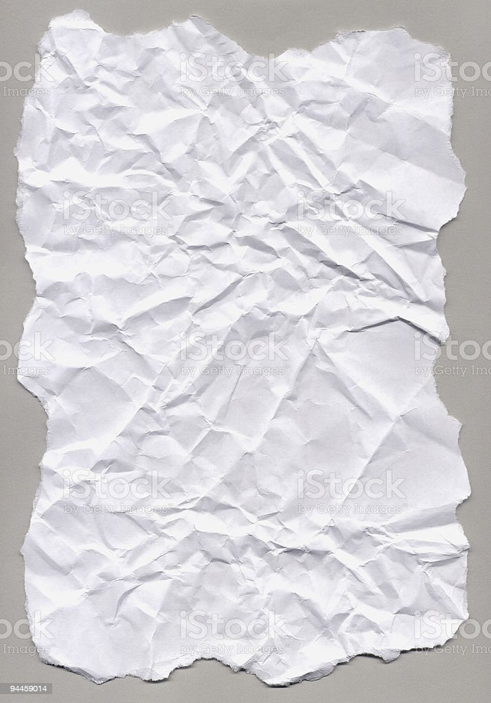 Creased Paper royalty-free stock photo