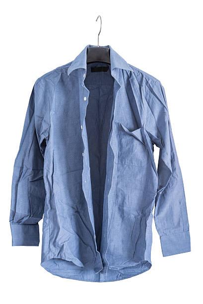 creased shirt stock photo