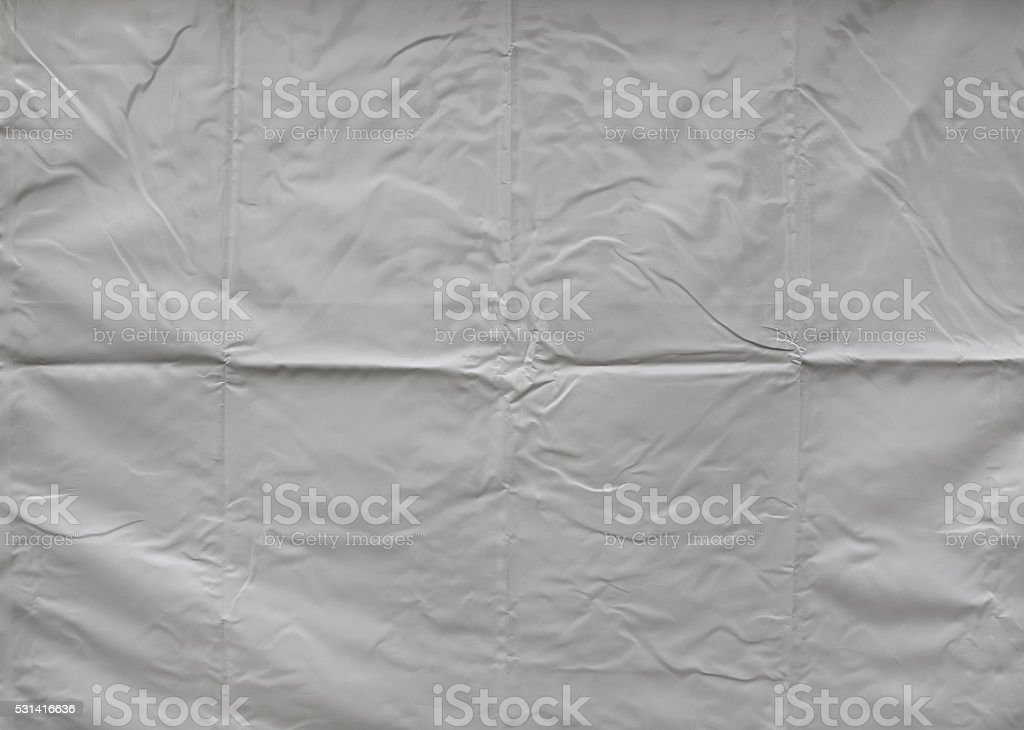 Creased tarpaulin texture stock photo