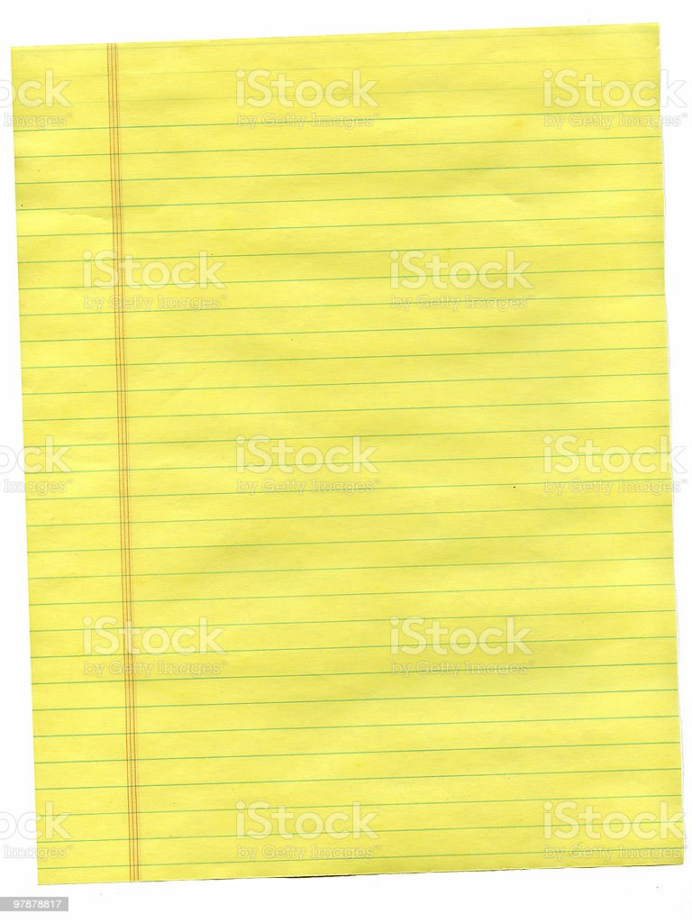 creased yellow paper royalty-free stock photo