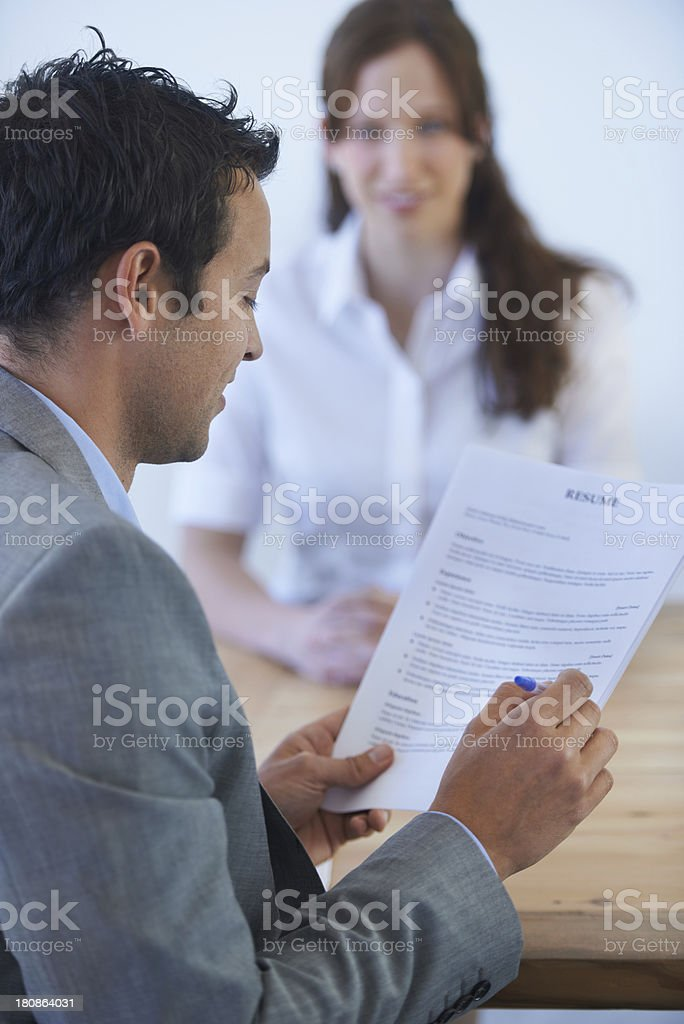 Create a great CV, and the job's yours! royalty-free stock photo