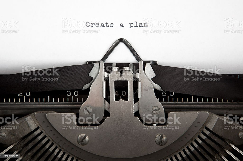 Create a Plan stock photo