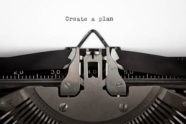 Create a Plan stock photo