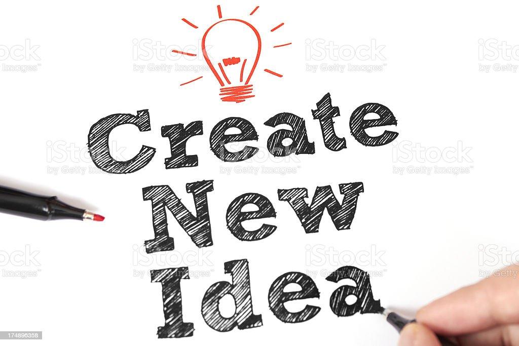 Create New idea royalty-free stock photo