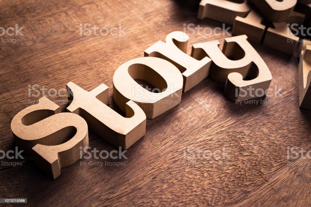 Create Story Alphabet - Royalty-free Advertisement Stock Photo