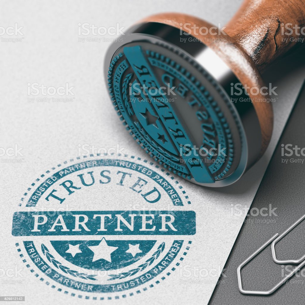 Create Strong Business Partnership, Building Trust - foto stock