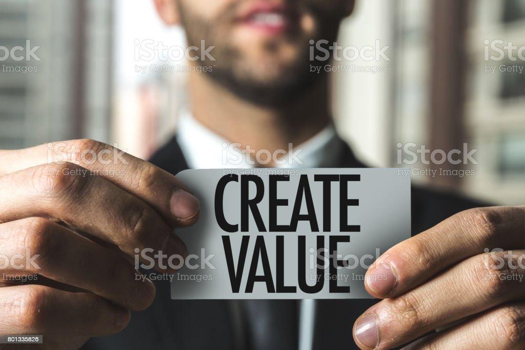 Create Value - Foto stock royalty-free di Affari
