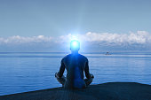 created idea with meditating 3D work