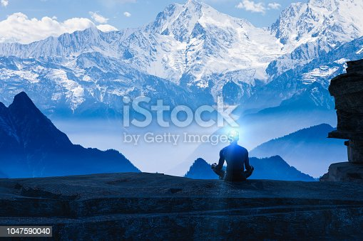 istock created idea with meditating 3D work 1047590040