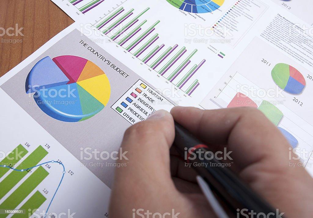 Creatig a Budget Diagram royalty-free stock photo