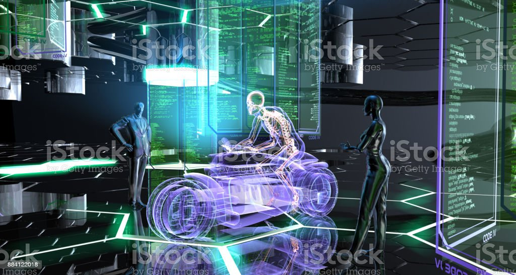 Creating a Futuristic Transportation Vehicle stock photo