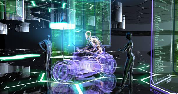 erstellen einer futuristischen transportfahrzeug - autos und motorräder stock-fotos und bilder