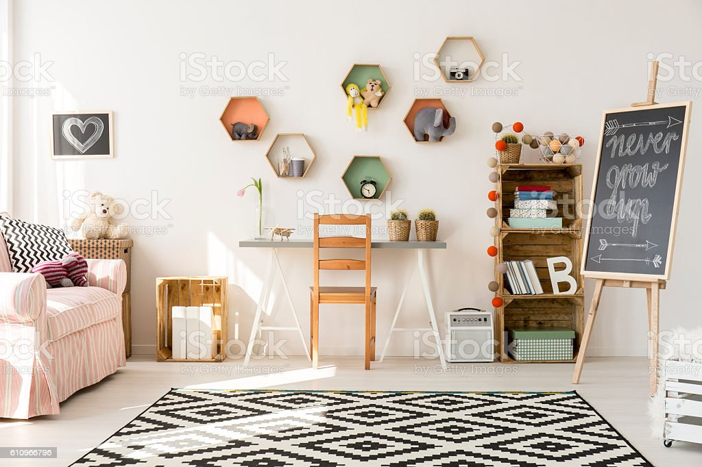 Creating a good space for child development stock photo